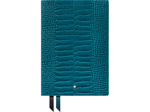 #146 Croco Teal, Lined finish - Lined Notebook-192 pages- 6 x 8.2 in. shown