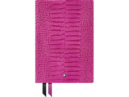 #146 Croco Fuchsia, Lined finish - Lined Notebook-192 pages- 6 x 8.2 in. shown