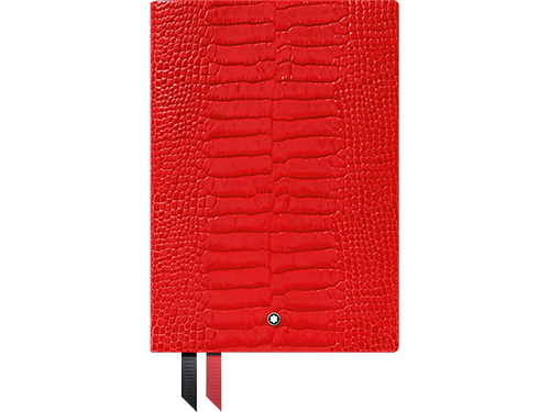 #146 Croco Poppy Red, Lined finish - Lined Notebook-192 pages- 6 x 8.2 in. shown