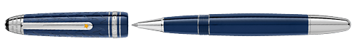 Deep Blue Resin/Platinum Coated Clip (Reg:$650) finish - LeGrand Rollerball shown