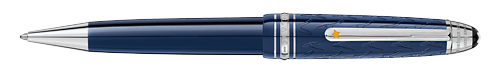 Deep Blue Resin/Platinum Coated Clip (Reg:$550) finish - Midsize Ball Pen shown