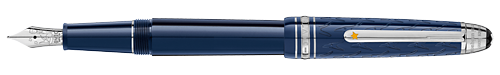 Deep Blue Resin/Platinum Coated Clip (Reg:$720) finish - Classique Fountain Pen shown