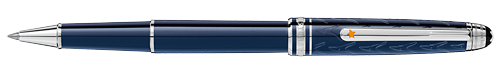 Deep Blue Resin/Platinum Coated Clip (Reg:$575) finish - Classique Rollerball shown