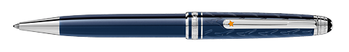 Deep Blue Resin/Platinum Coated Clip (Reg:$515) finish - Classique Ball Pen shown