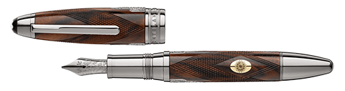 Montblanc - Meisterstuck James Purdey & Sons - Walnut LeGrand Fountain Pen (Reg: $3240)