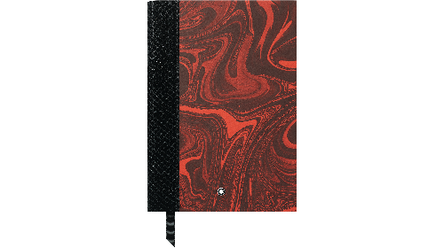 Red and Black Ripple - Venetian paper/python-print leather spine finish - 146 Lined Notebook-192 Pages - 6 in. x 8.2 in. shown