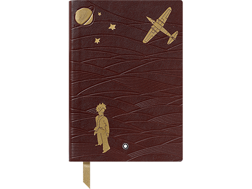 Brown Italian Calfskin-Full Grain-Gold Embossing finish - 146 Notebook-192 Pages shown