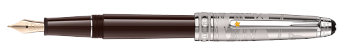 Doue Brown Lacquer/Platinum Coating finish - Classique Fountain Pen(Reg: $1020) shown