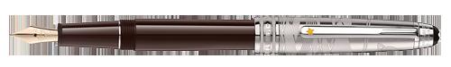 Montblanc - Le Petit Prince & Aviator - Doue Brown Lacquer/Platinum Coating Classique Fountain Pen(Reg: $1020)