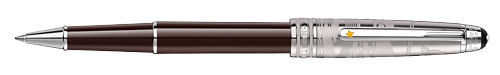 Doue Brown Lacquer/Platinum Coating finish - Classique Rollerball(Reg: $800) shown