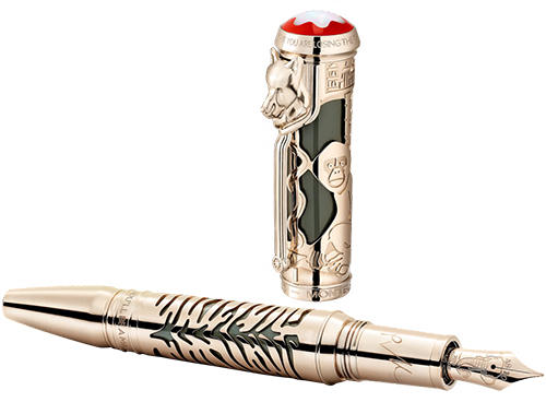 """Montblanc Limited Editions - Rudyard Kipling Tribute to """"IF"""" 1895 Writers Edition - Year: 2019 - Champagne-tone gold-coated overlay on  jungle green  precious lacquer - Edition: 1895 - Fountain Pen (Reg: $4,080)"""