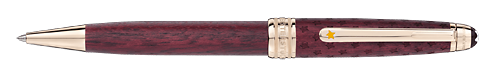 Solitaire Burgundy  finish - Midsize Ballpoint   shown
