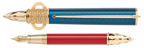 Montblanc Limited Editions - Patron of Art Homage to Moctezuma - Year: 2020 - Blue & Red  - Fountain Pen (Reg: $3,000)