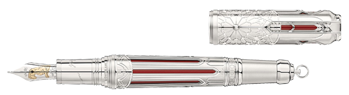 Montblanc Limited Editions - Victor Hugo Writers Edition 1831 - Year: 2020 - Red translucent lacquer with skeletonized platinum-coated overlay - Edition: 1831 - Fountain Pen   (Reg: $4,300) (Mid August Release)
