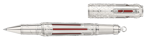 Montblanc Limited Editions - Victor Hugo Writers Edition 1831 - Year: 2020 - Red translucent lacquer with skeletonized platinum-coated overlay - Edition: 1831 - Rollerball (Reg: $4,100)  (December Release)