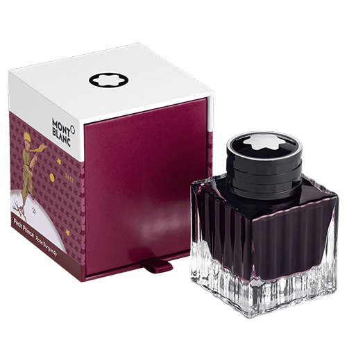 Ink Bottle 50 ml, Petit Prince and Planet, Burgundy finish - Ink    shown