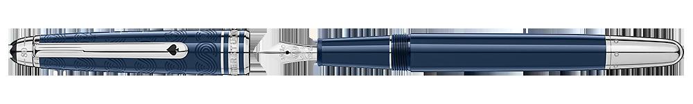 Montblanc - Meisterstuck Around The World In 80 Days - Blue  (#126344)   Classique Fountain Pen (Reg: $835)