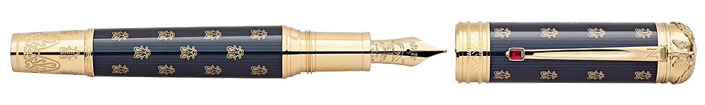 Montblanc Limited Editions - Patron of Art Homage to Napoleon Bonaparte Edition 4810 - Year: 2021 - Blue & Gold - Edition: 4810 - Fountain Pen (Reg: $3,375)