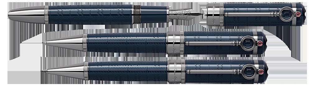 Montblanc Limited Editions - Arthur Conan Doyle Writers Edition - Year: 2021 - Blue   - Set-Fountain Pen, Ball Pen & 0.7mm Pencil (Reg: $2,945)