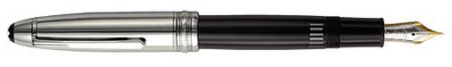 Montblanc - Doué Stainless Steel - Doue Stainless Steel & Black LeGrand Fountain Pen #23346