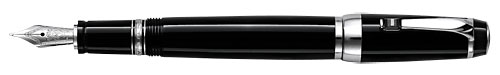 Montblanc - Bohème - Precious Resin - Black & Platinum with Onyx Retractable Fountain Pen #25110  (Reg: $715)