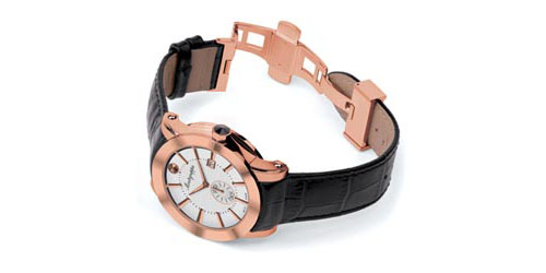 5N (Rose Gold) PVD - Silver Dial finish - Montegrappa NeroUno Watch shown