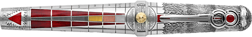 Fire-Sterling Silver/Enamel finish - Fountain Pen (Reg: $10,000) shown