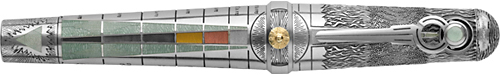 Montegrappa - Alchemist - Water-Sterling Silver/Enamel Fountain Pen  (Reg: $10,000)
