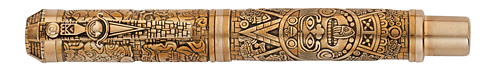 Montegrappa Limited Editions - Mayan Calendar - Year: 2012 - Bronze - Edition: 360 Rollerballs - Rollerball