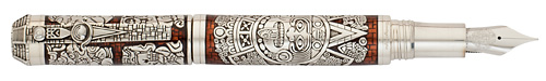 Montegrappa Limited Editions - Mayan Calendar - Year: 2012 - Sterling Silver - Edition: 360 Fountain Pens - Fountain Pen