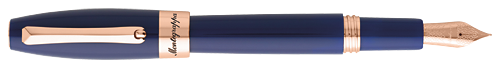 Navy Blue & Rose Gold finish - Fountain Pen (List Price; $275) shown