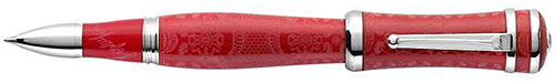 Montegrappa Limited Editions - Sophia Loren - Year: 2015 - Red & Silver - Rollerball (List Price: $1300)