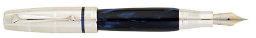 Montegrappa - Miya Argenta - Midnight Blue Fountain Pen