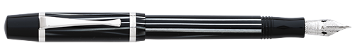 Montegrappa Limited Editions - Nazionale Flex - Year: 2018 - Zebra Celluloid/Sterling Silver  - Edition: 200 Fountain Pens - Fountain Pen