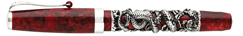 Montegrappa Limited Editions - Year of the Snake - Year: 2013 - Red/Silver - Fountain Pen (List Price: $2600)