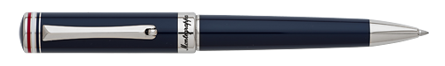 Blue - Platinum Plated  finish - Ball Pen (List Price: $325) shown