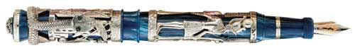 Montegrappa Limited Editions - Luxor Blue Nile - Year: 1996 - Edition: 1,912 Pens - Fountain Pen