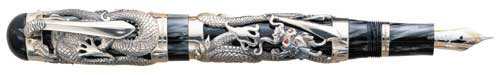 Montegrappa Limited Editions - Silver Dragon - Sterling Silver - Edition: 1,912 Pens - Fountain Pen