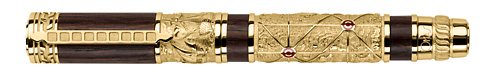 Omas Limited Editions - Piri Reis - Year: 2013 - Yellow Gold Vermeil  - Edition: 200 Rollerballs - Rollerball