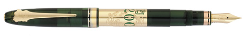 Omas Limited Editions - Perrier-Jouët - Year: 2011 - Transparent Green/Gold - Edition: 1000 Fountain Pens - Fountain Pen