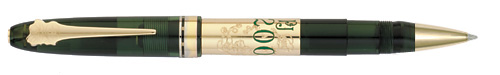 Omas Limited Editions - Perrier-Jouët - Year: 2011 - Transparent Green/Gold  - Edition: 811 Rollerballs - Rollerball