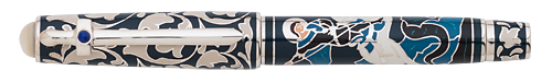 Omas Limited Editions - Saint George - Year: 2014 - Blue Enamel - Edition: 100 Rollerballs - Rollerball