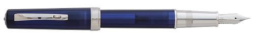 Omas Limited Editions - Arte Italiana Art Vision - Year: 2015 - Transparent Liquid Blue - Edition: 331 Fountain Pens - Fountain Pen