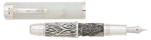 Omas Limited Editions - Michelangelo - Moses - Year: 2014 - Silver  - Edition: 400 Fountain Pens - Fountain Pen