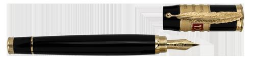 Omas Limited Editions - Dante Alighieri - Year: 2015 - Black Resin/Vermeil - Edition: 575 Fountain Pens - Fountain Pen