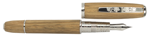 Omas Limited Editions - Chianti Classico - Year: 2015 - Oak Wood/Sterling Silver - Edition: 716 Fountain Pens - Fountain Pen