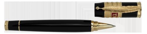 Omas Limited Editions - Dante Alighieri - Year: 2015 - Black Resin/Vermeil  - Edition: 175 Rollerballs - Rollerball