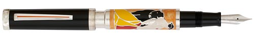 Omas Limited Editions - Tauromaqui - Year: 2007 - Sterling Silver - Edition: 500 Pens - Fountain Pen