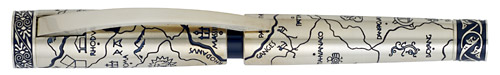 Omas Limited Editions - Samo - Year: 2007 - Solid Silver - Edition: 572 - Fountain Pen
