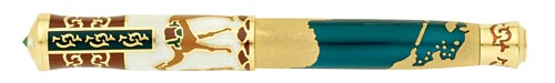 Omas Limited Editions - Silk Way - Year: 2010 - Sterling Silver/Enamel - Edition: 1000 Fountain Pens  - Fountain Pen